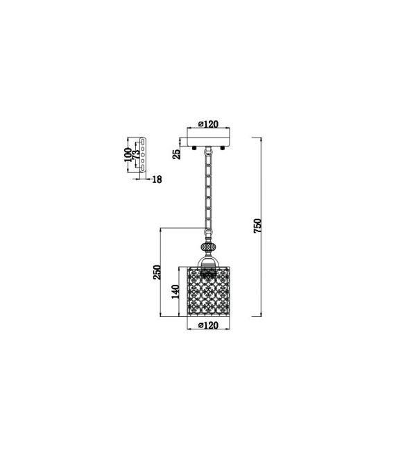 Pakabinamas šviestuvas SHERBORN F015-11-G