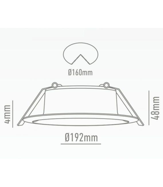 18W LED Įmontuojamas šviestuvas Downlight White LC-1563-18W-W
