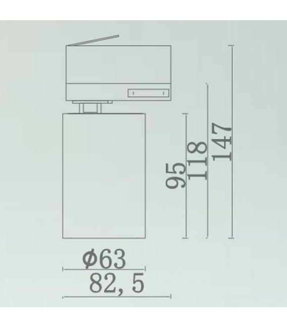ŠVIESTUVAS BĖGELIUI Iluminacion 3F Ø6.3 Black NC2189-FBK