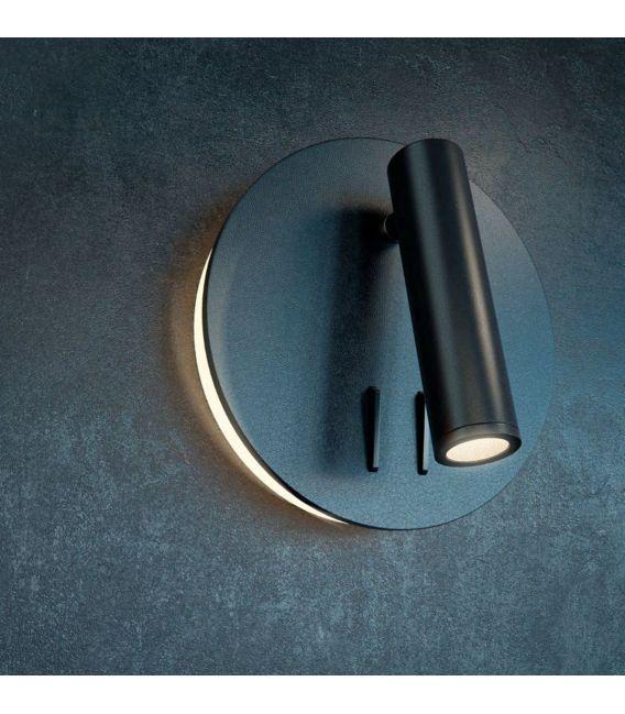 9W LED Sieninis šviestuvas IOS 176  Black C176-WL-01-6W-B