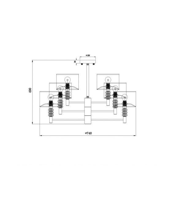 Pakabinamas šviestuvas LINCOLN 6 MOD527PL-06N