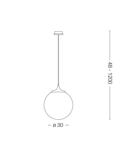 Pakabinamas šviestuvas BOA SP1 Ø30 Black 160856