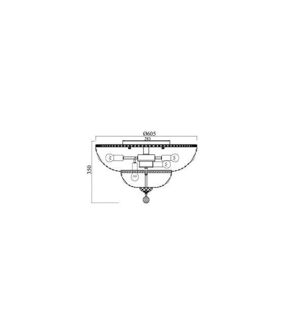 Lubinis šviestuvas BASFOR Gold Ø60.5 DIA100-CL-16-G