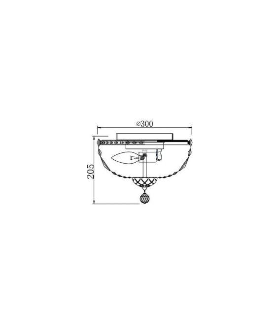 Lubinis šviestuvas BASFOR Nickel Ø30 DIA100-CL-03-N
