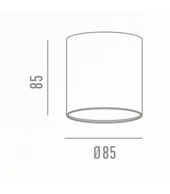 9W LED Lubinis šviestuvas Gama Superficie White Ø7,5 LC1465-9W-W