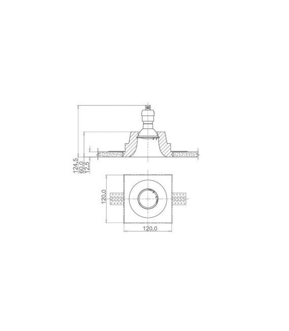Įmontuojamas šviestuvas GYPS MODERN Square DL001-1-01-W