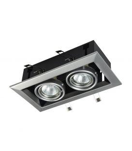 Įmontuojamas šviestuvas METAL MODERN 2 Silver DL008-2-02-S