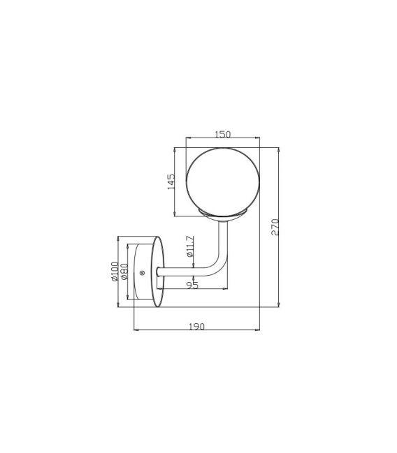 Sieninis šviestuvas ERICH 1 Nickel MOD221-WL-01-N