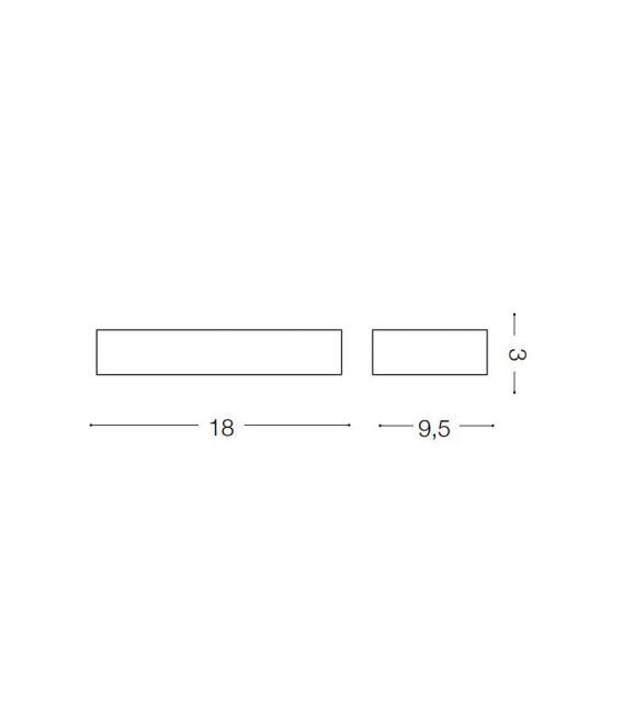 Sieninis šviestuvas HYDRO AP1 139746