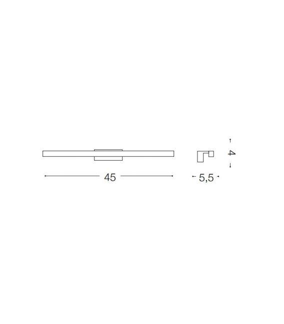 5.88W LED Sieninis šviestuvas EDGAR AP49 ALLUMINIO 136585 IP44