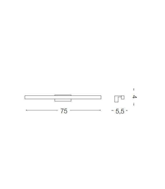 11,76W LED Sieninis šviestuvas EDGAR AP84 BIANCO IP44 136578
