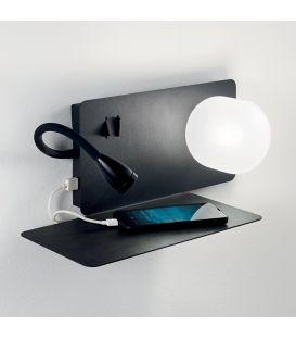 3W LED Sieninis šviestuvas BOOK-1 AP2 NERO 174808