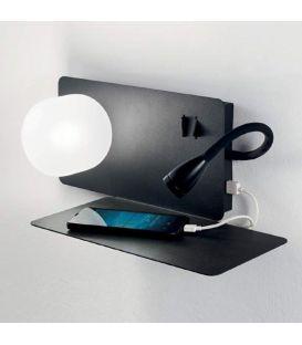 3W LED Sieninis šviestuvas BOOK-2 AP2 NERO 174846