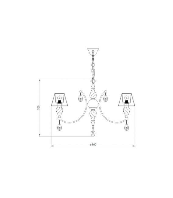 Pakabinamas šviestuvas MURANO 6 RC855-PL-06-R