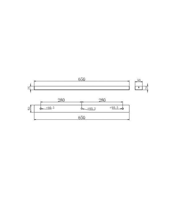 Tvirtinimo elementas UNIVERSAL BASE White SPR-BASE-03-W