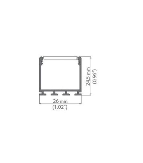 LED profilis LIPOD B5554