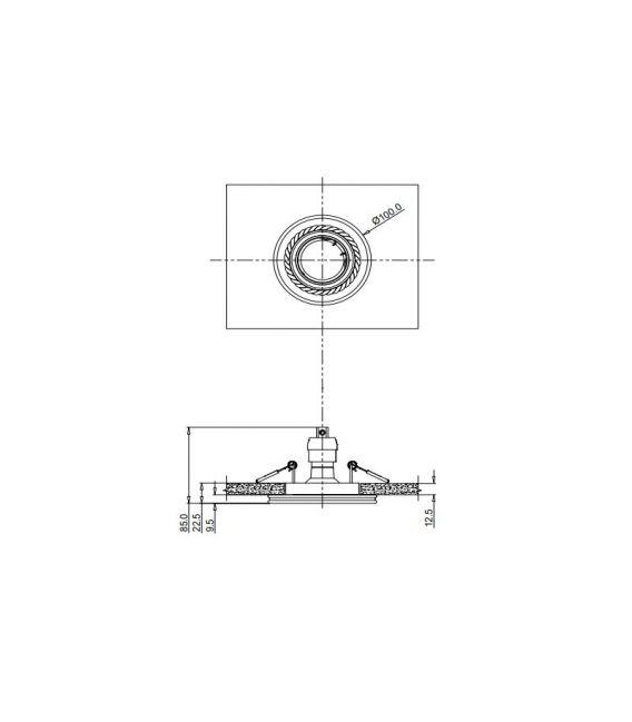 Įmontuojamas šviestuvas GYPS MODERN Round DL283-1-01-W