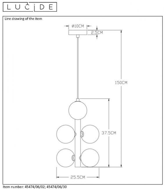 Pakabinamas šviestuvas TYCHO Black 45474/06/30