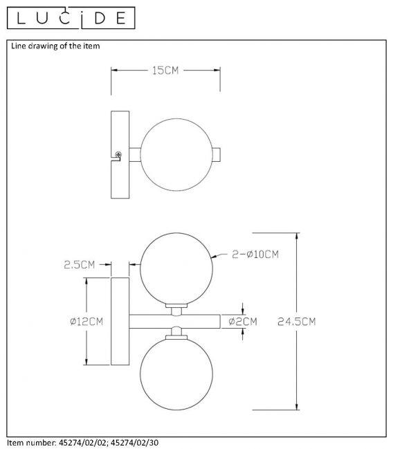 Sieninis šviestuvas TYCHO Satin brass 45274/02/02