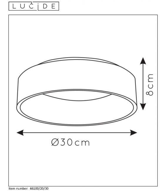 20W LED Lubinis šviestuvas TALOWE Ø 30 Black 46100/20/30