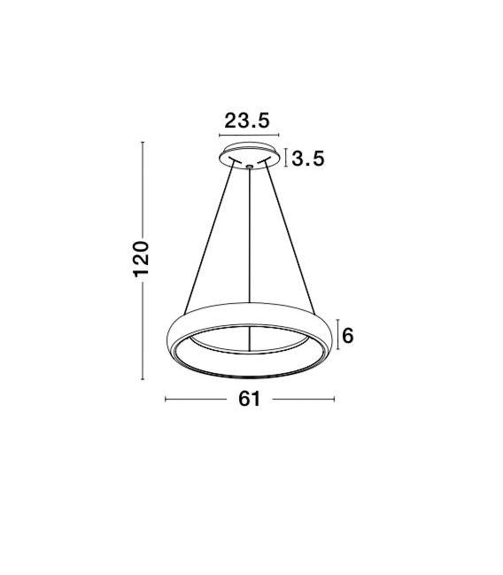 50W LED Pakabinamas šviestuvas Albi Ø61 Black 8105602D