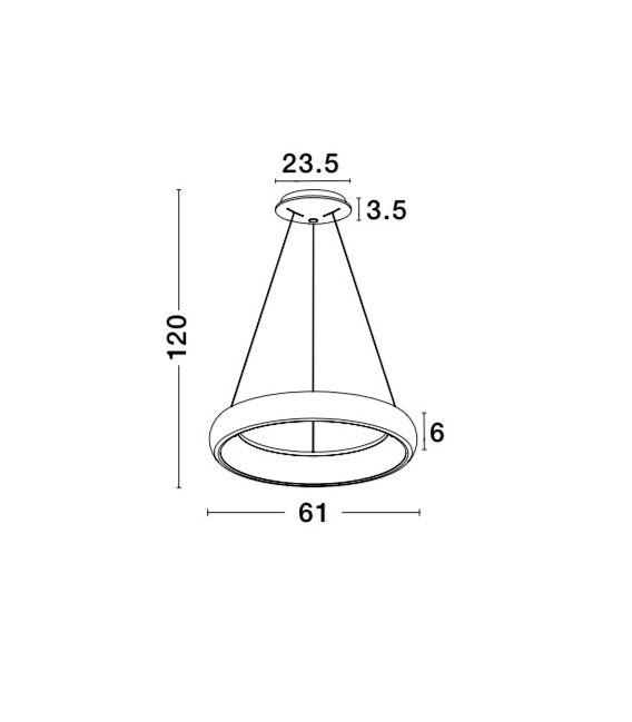 50W LED Pakabinamas šviestuvas Albi Ø61 Coffee Brown 8105608
