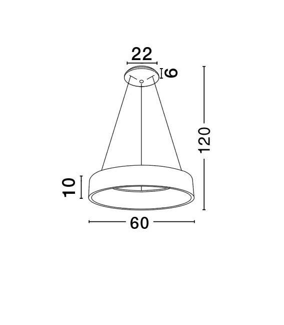 42W LED Pakabinamas šviestuvas RANDO Ø60 White 6167205