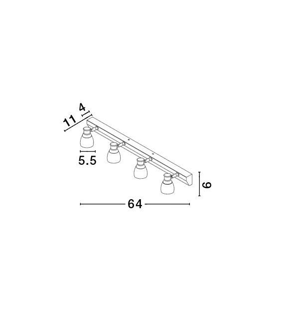 12W LED Sieninis šviestuvas Bellezza Chrome IP44 1403201304