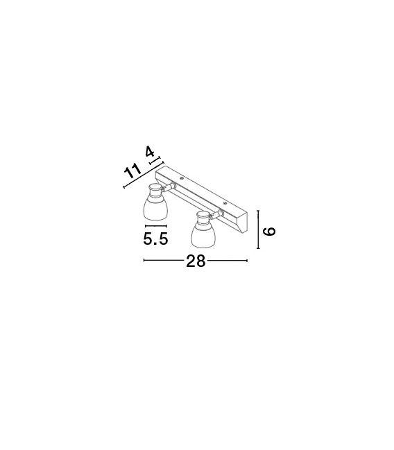6W LED Sieninis šviestuvas Bellezza Chrome IP44 1403201302