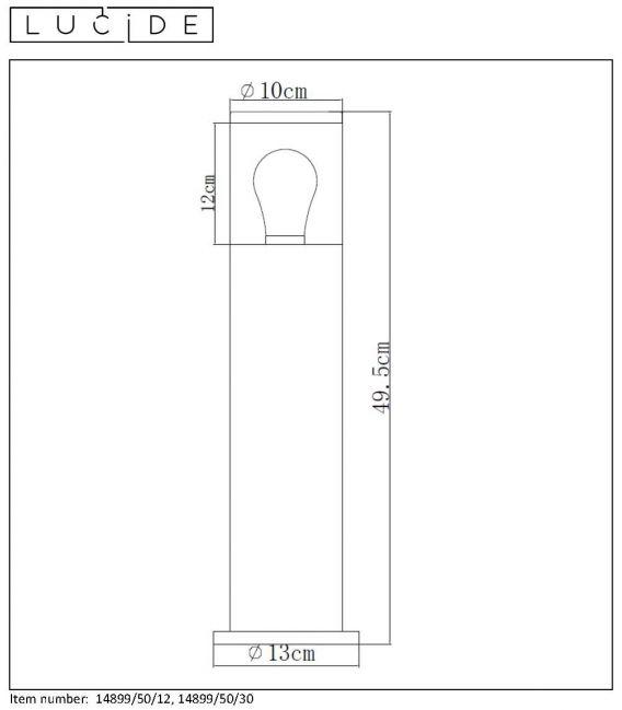 Pastatomas šviestuvas FEDOR Chrome IP44 Dimeriuojamas 14899/50/12