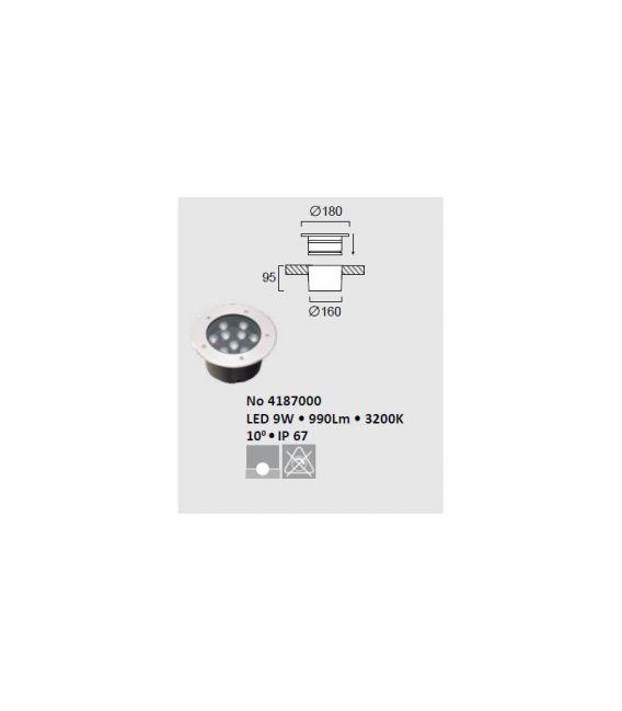 6W LED Įmontuojamas šviestuvas LOTUS Ø11 IP67 4187000