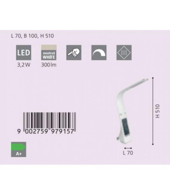 3,2W LED Stalinis šviestuvas COGNOLI White Dimeriuojamas 97915