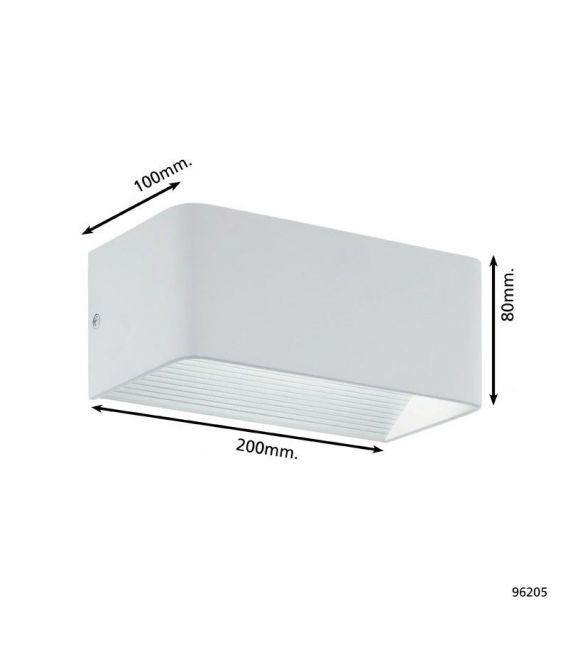 5W LED Sieninis šviestuvas SANIA 3 White 96205
