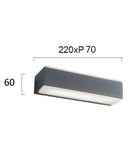 16W LED Sieninis šviestuvas TECH IP65 4198700