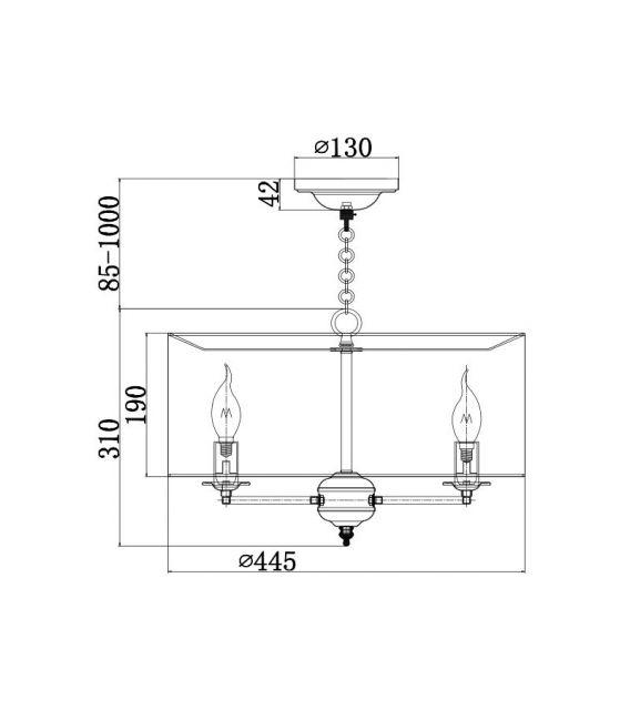 Pakabinamas šviestuvas ANNA H007PL-04G
