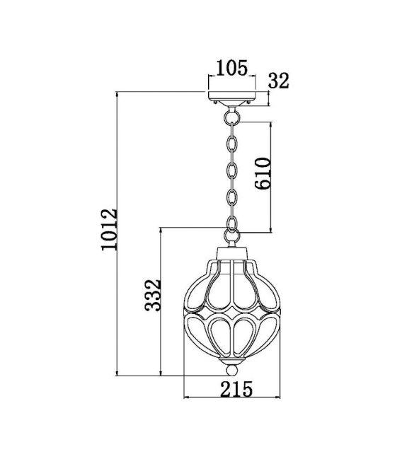 Pakabinamas šviestuvas CHAMPS ELYSEES S110-35-01-R
