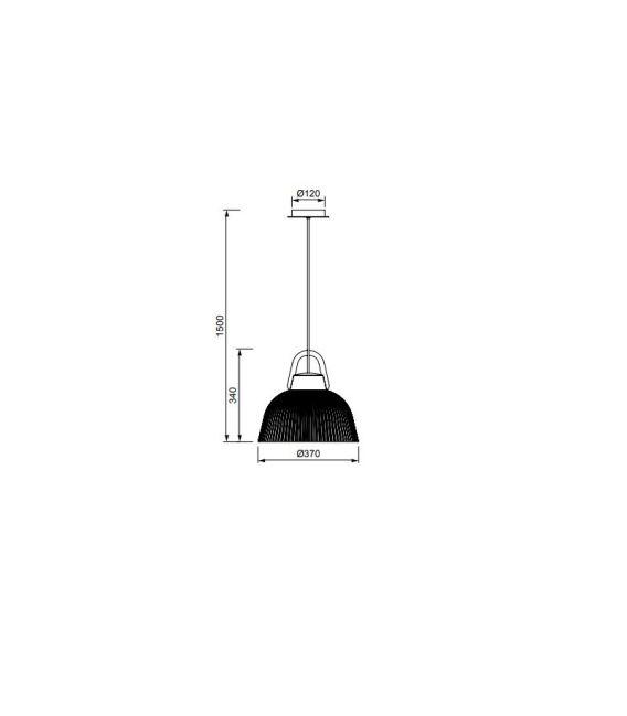 Pakabinamas šviestuvas KINKE Ø37 IP44 White/Gray 6211