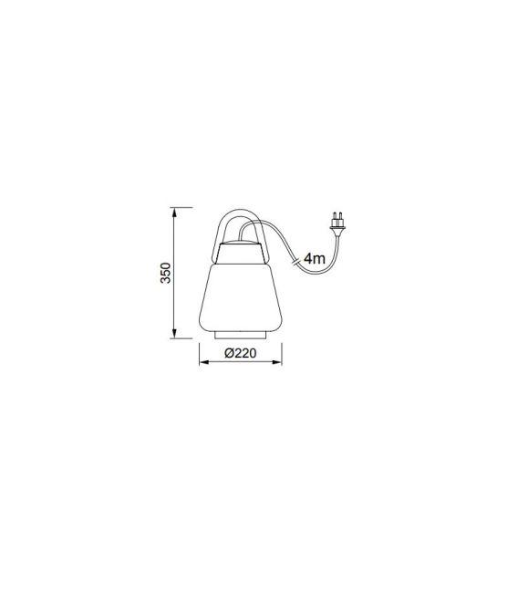 Pakabinamas šviestuvas KINKE White/Gray Ø22 IP65 6213