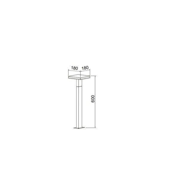 10W LED Pastatomas šviestuvas Tignes IP54 6498