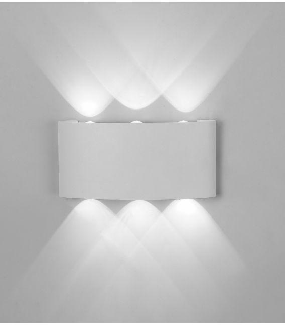 6W LED Sieninis šviestuvas ARCS Sand White IP54 6541