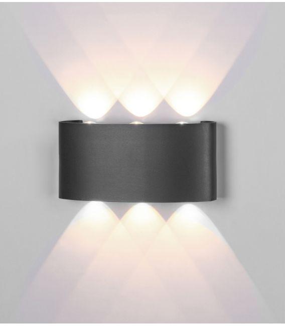 6W LED Sieninis šviestuvas ARCS Dark Grey IP54 6540
