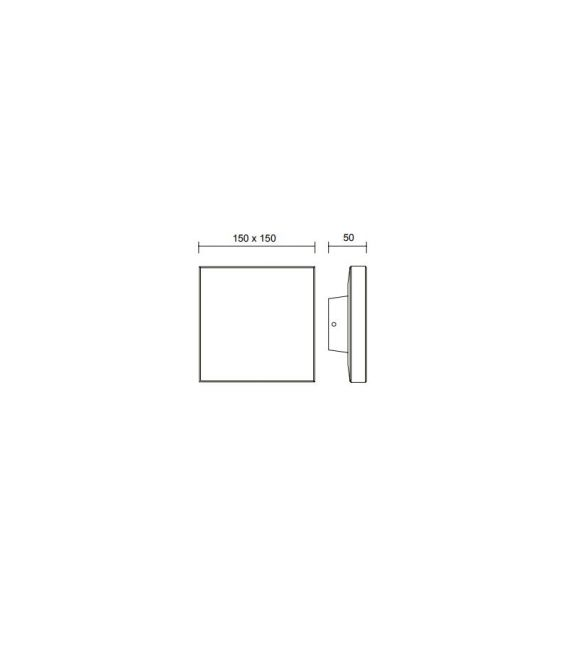 9.6W LED Sieninis šviestuvas BORA White IP54 6537