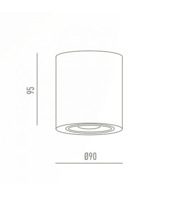 Lubinis šviestuvas Lamparas Black Ø9 NC1464R95-CF