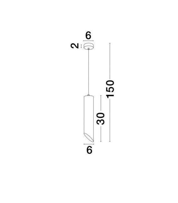 Pakabinamas šviestuvas PERO Black 9184376