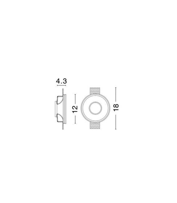 Įmontuojamas šviestuvas COSIMO Round Ø12 H4.3 9879105
