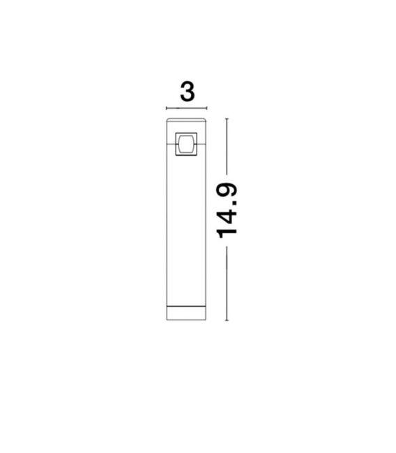 5W LED Magnetinis šviestuvas BAR Brass 9090281
