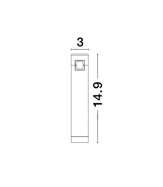 5W LED Magnetinis šviestuvas BAR Black 9180561