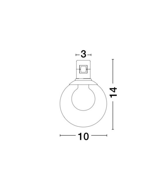 5W LED Magnetinis šviestuvas MINIMAL Brass 9090284