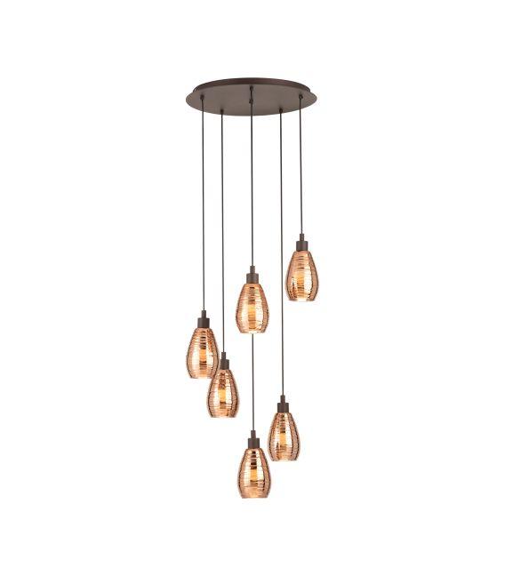 Pakabinamas šviestuvas SIRACUSA 6 Copper 39508