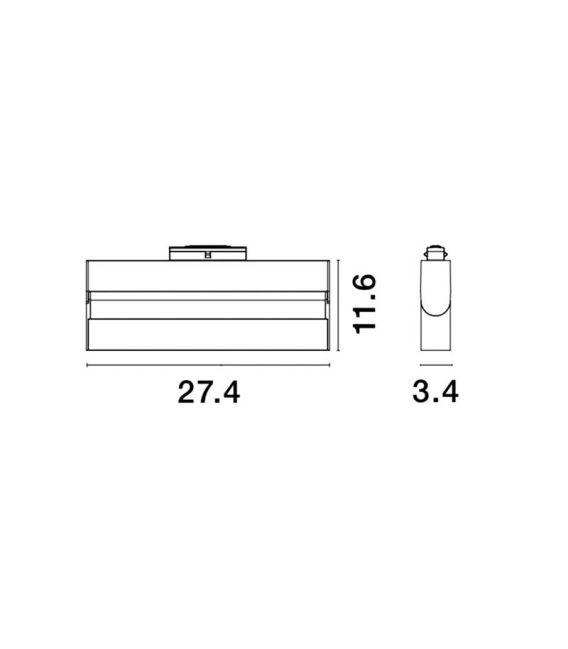 15W LED Magnetinis šviestuvas ESTE 3000K 2100Lm 8252027